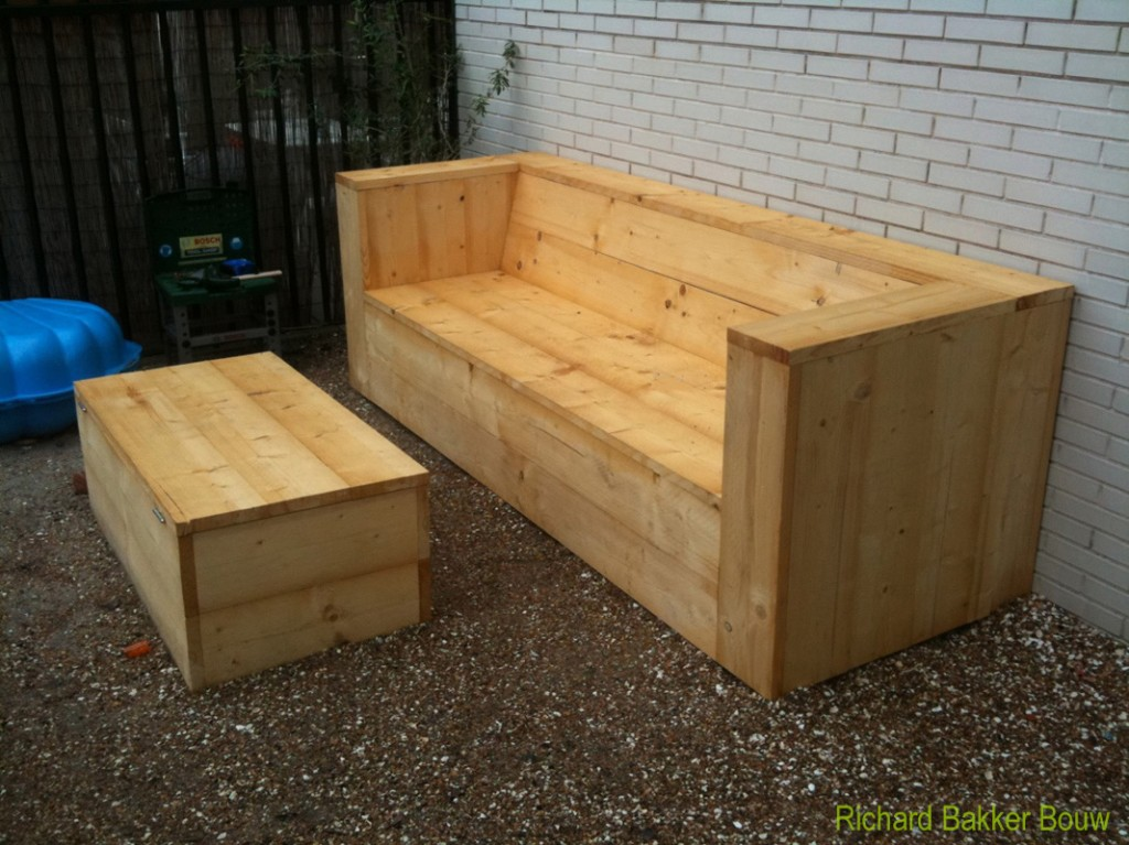 Tuinbank met kist Made by RB